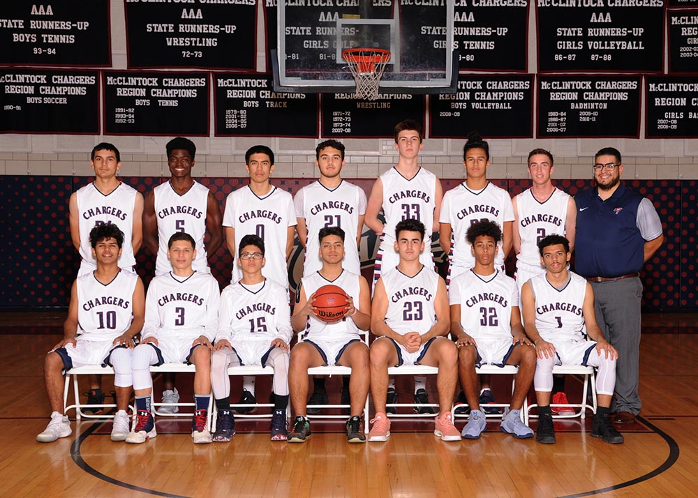 McClintock Junior Varsity Basketball Team